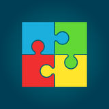 Puzzle icon flat illustration. Pictogram Royalty Free Stock Photos