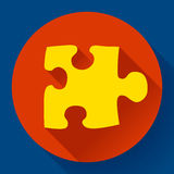 Puzzle icon. Flat vector design style. Royalty Free Stock Images
