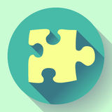 Puzzle icon. Flat vector design style. Stock Photography