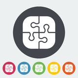 Puzzle. Icon. Flat vector related icon for web and mobile applications. It can be used as - logo, pictogram, icon, infographic element. Vector Illustration Stock Photo