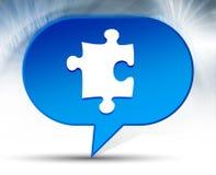 Puzzle icon blue bubble background stock illustration