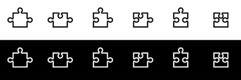 Free Puzzle Icon Set. Side Piece Puzzle Royalty Free Stock Photo - 191160865