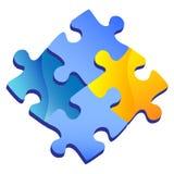 Puzzle icon, shiny illustration Royalty Free Stock Photo