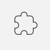 Puzzle icon Vector illustration isolated on white . Royalty Free Stock Photography