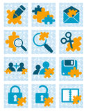 Puzzle icons Royalty Free Stock Images