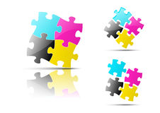 Puzzle icons Stock Images