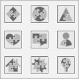 Puzzle Icons Stock Photo