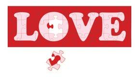 Puzzle II di amore Fotografia Stock