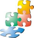 Puzzle illustration Stock Photo