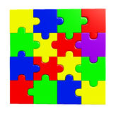 Puzzle illustration Stock Photography
