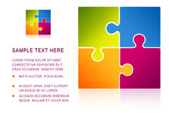 Puzzle illustration with text Royalty Free Stock Photo
