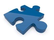 Puzzle. illustrazione 3D su una priorità bassa bianca Immagini Stock Libere da Diritti