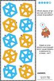 Puzzle impossible de visuel d'objets Images libres de droits