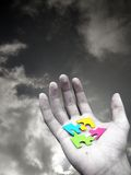Puzzle In Hand Stock Images
