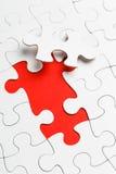 Puzzle inachevé avec le morceau absent image stock
