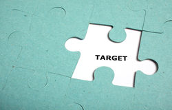 Puzzle incomplete - target Royalty Free Stock Image
