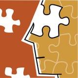 Puzzle incompleto di viso umano Fotografia Stock Libera da Diritti