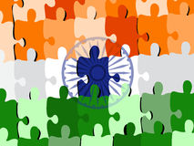 Puzzle of an Indian National flag/ Royalty Free Stock Image