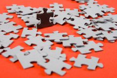 Puzzle. individuality Stock Photo