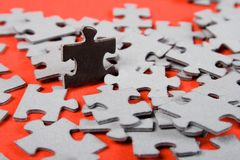 Puzzle. individuality Royalty Free Stock Images