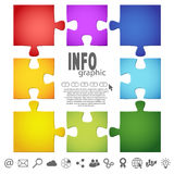 Puzzle info graphic Royalty Free Stock Image