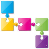 Puzzle infoghaphics Royalty Free Stock Photo