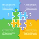 Puzzle infographic background Stock Photography