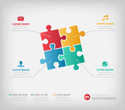 Puzzle infographic illustration for business Royalty Free Stock Photo