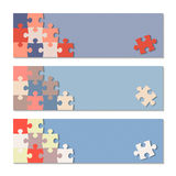 Puzzle infographic. Vector background with puzzle infographic Stock Photography