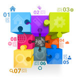 Puzzle infographics Royalty Free Stock Photography
