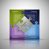 Puzzle Infographics template Royalty Free Stock Image
