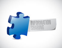 Puzzle information sharing illustration design Stock Photos