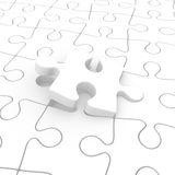 Puzzle insertion Royalty Free Stock Image