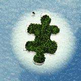 Puzzle Island Stock Photo