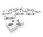 Puzzle isolated Royalty Free Stock Photo