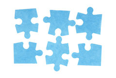 Puzzle isolated on white Stock Photos