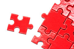 Puzzle and jigs isolated background Stock Images