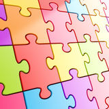 Puzzle jigsaw background made of coloful pieces Stock Photo
