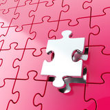Puzzle jigsaw background with one piece stand out Stock Photos