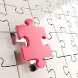 Puzzle jigsaw background with one piece stand out Stock Photography