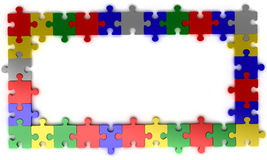 Puzzle jigsaw frame Stock Photo
