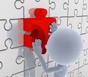 Puzzle, jigsaw matching. Solution Royalty Free Stock Images