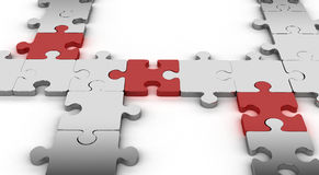 Puzzle jigsaw network Stock Images