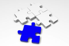 Puzzle, jigsaw, problem, solution, complicity, concept, idea, solving, 3D... Royalty Free Stock Image