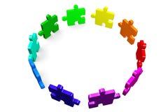 Puzzle, jigsaw, problem, solution, complicity, concept, idea, solving, 3D... Stock Photo