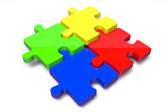 Puzzle, jigsaw, problem, solution, complicity, concept, idea, solving, 3D... Royalty Free Stock Photos