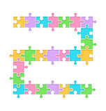 Puzzle Jigsaw Road Infographic Element  on White Stock Photo
