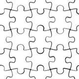 Puzzle jigsaw seamless pattern Stock Photo