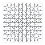 Puzzle jigsaw set of 100 pieces in vector. Puzzle jigsaw set of 100 pieces, vector illustration Stock Image