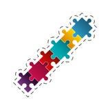 Puzzle jigsaw solution image. Illustration eps 10 Stock Image
